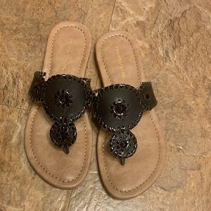 Black Franco Fortini Sandals